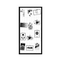 Portafoto multiplo Multifoto griglia nera nero 12 foto