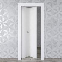 Porta da interno pieghevole Hunk cemento calce 80 x H 210 cm sx