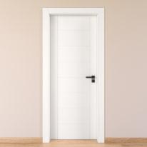 Porta da interno battente Chamberì bianco 60 x H 210 cm sx