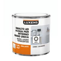 Smalto manounica Luxens all'acqua Bianco brillante 0.5 L