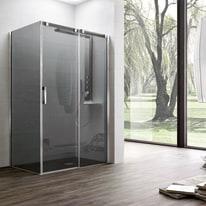 Porta doccia scorrevole Master 132,5-135, H 196 cm vetro temperato 8 mm extra light/argento lucido