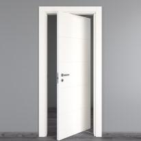 Porta da interno rototraslante Prado bianco 80 x H 210 cm dx
