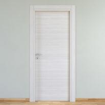 Porta da interno battente Pigalle palissandro bianco 60 x H 210 cm reversibile