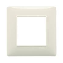 Placca 2 moduli Vimar Plana beige