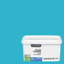 Idropittura lavabile Mano unica Blu Atollo 4 - 2,5 L Luxens