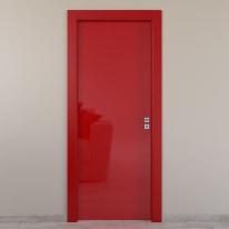 Porta da interno battente Massaua red rosso 60 x H 210 cm sx