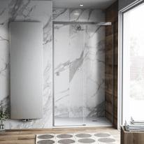 Porta doccia scorrevole Neo Plus 177-179, H 200 cm vetro temperato 6 mm trasparente/cromo PVD