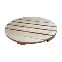 Piano tavolo tondo dogato legno Ø 120 cm grezzo prezzi e offerte ...