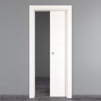 Porta da interno scorrevole Prado bianco 70 x H 210 cm reversibile