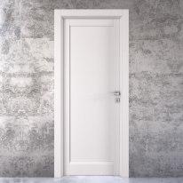 Porta da interno battente Aludra bianco 60 x H 210 cm sx