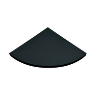 Mensola angolare Spaceo nero L 35 x P 35, sp 1,8 cm