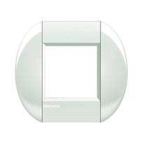 Placca 2 moduli BTicino Livinglight bianco