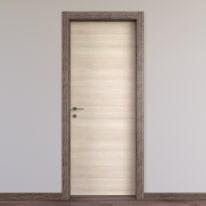 Porta da interno battente Mixage brown grano 60 x H 210 cm reversibile