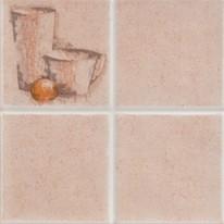 Piastrella con decoro Casale beige 20 x 20 cm