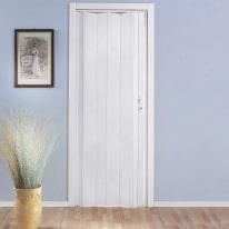 Porta a soffietto Luciana bianco L 88.5 x H 214 cm
