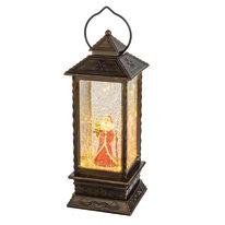 Lanterna con telecomando 1 minilucciole Led classica gialla H 27,5 cm