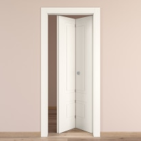 Porta da interno pieghevole Shibuya bianco 70 x H 210 cm dx