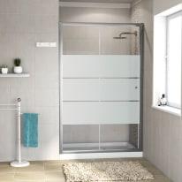 Porta doccia scorrevole Dado 97-100, H 185 cm cristallo 5 mm serigrafato/silver
