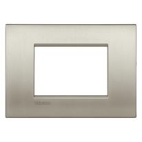 Placca 3 moduli BTicino Livinglight Air Grigio Titanio