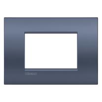 Placca 3 moduli BTicino Livinglight Air blu moon