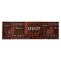 Tappetino cucina antiscivolo City marrone 57 x 180 cm