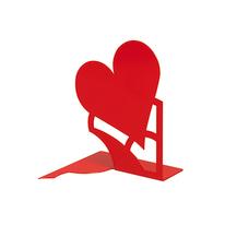 Fermalibri Mon amour rosso L 14,6 x H 19 x P 14,5 cm