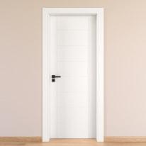 Porta da interno battente Chamberì bianco 60 x H 210 cm dx