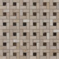 Mosaico Nido Pietracrema 30,5 x 30,5 cm bianco, beige