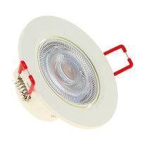 Faretto da incasso bianco LED integrato orientabile rotondo Ø 8,6 cm 5,6 W = 345 Lumen luce calda