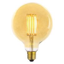 Lampadina decorativa LED 23003245 E27 =50W globo giallo 360°