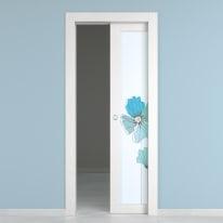 Porta da interno scorrevole Eden larice bianco 70 x H 210 cm dx