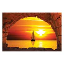 quadro su tela Finestra sul mare 95x145