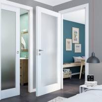 Porta da interno battente Avior bianco 80 x H 210 cm dx