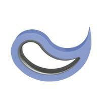 Fermaporta mobile azzurro