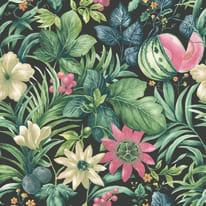 Carta da parati Fiori e frutta multicolor 10 m