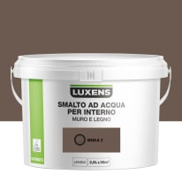 Smalto Luxens all'acqua Marrone Moka 3 satinato 2.5 L