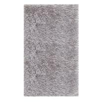 Tappeto Shaggy Enzo lurex argento 140 x 200 cm