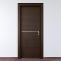 Porta da interno battente Wright Fumo 70 x H 210 cm sx