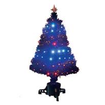 Albero di Natale artificiale Fibre ottiche e led H 150 cm