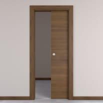 Porta da interno scorrevole Stenophylla cacao 80 x H 210 cm reversibile