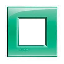 Placca 2 moduli BTicino Livinglight verde