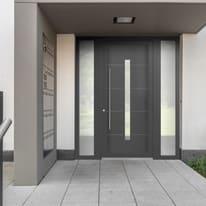 portoncino d'ingresso PVC Modern6 grigio L 170 x H 210 dx