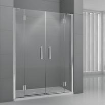 Porta doccia battente Modulo 166-172, H 195 cm cristallo 6 mm trasparente/cromo