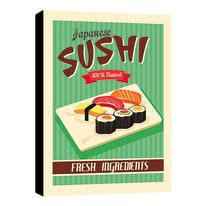 quadro su tela sushi 24x35 24x35