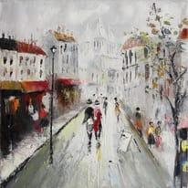 dipinto su tela Boulevard 30x30
