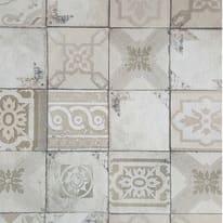 Carta da parati Piastrella mosaico tortora 10 m