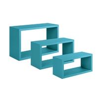Set 3 rettangoli Spaceo blu, sp 1,8 cm