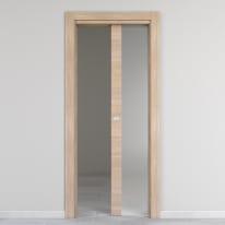 Porta da interno scorrevole Ritz Vetro Rosa del deserto 70 x H 210 cm reversibile
