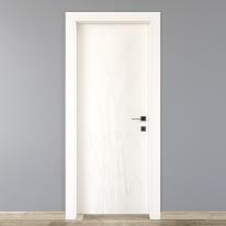 Porta da interno battente Blades white bianco 70 x H 210 cm sx
