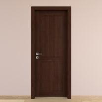 Porta da interno battente Lugano noce 70 x H 210 cm reversibile
